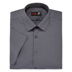 JF J. Ferrar® Short-Sleeve Slim Fit Dress Shirt
