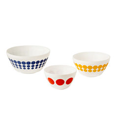 Vintage Charm™ Inspired by Pyrex® Spot On 3-pc. Mixing Bowl Set