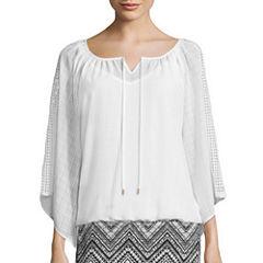 Alyx® Long-Sleeve Crochet Woven Top