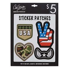 City Streets 4-Pc Sticker Patch Set