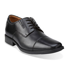 Clarks® Tilden Mens Leather Cap-Toe Dress Shoes