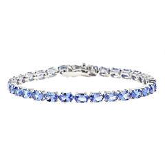 LIMITED QUANTITIES Genuine Emerald-Cut Tanzanite Sterling Silver Bracelet