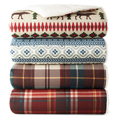 JCPenney Home Cozy Spun Print Throw