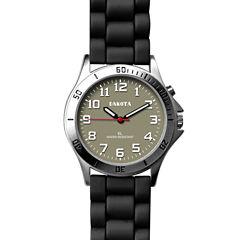 Dakota Women's Silicone Color EL Strap Watch, Black