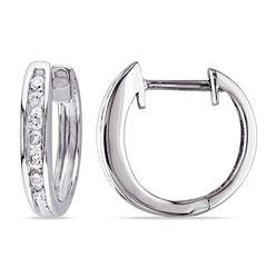 1/4 CT. T.W. White Diamond 10K Ear Cuffs