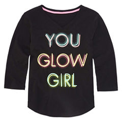 Xersion 3/4 Sleeve Graphic T-Shirt - Girls' 7-16 and Plus