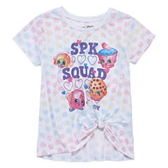 Shopkins Scoop Neck Short Sleeve Fitted Sleeve Blouse - Big Kid Girls