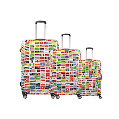 FUL® Flags 3-pc. Hard-Sided Spinner Luggage Set