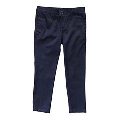 French Toast Skinny Stretch Twill Pant Slim Pants-Big Kid Girls Plus