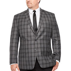Collection by Michael Strahan  Classic Fit Woven Plaid Sport Coat - Big and Tall
