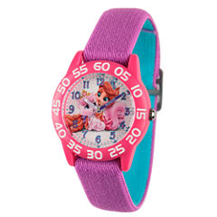 Disney Girls Purple Palace Pets Time Teacher Strap Watch W002833