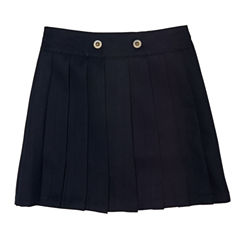 French Toast Front Button Pleated Scooter Skirt - Preschool Girls