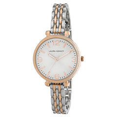 Laura Ashley Ladies Two Tone Rose Gold Link Bracelet Watch La31006Rg