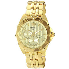 Armitron® Mens Gold-Plated Chronograph Watch