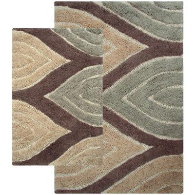 chesapeake davenport 2pc bath rug set