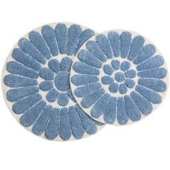 Chesapeake Merchandising Bursting Flower 2-pc. Round Bath Rug Set