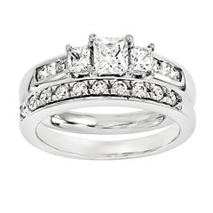 1 3/4 CT. T.W. Diamond 14K White Gold Bridal Set