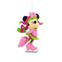 Disney Minnie Skating Christmas Ornament
