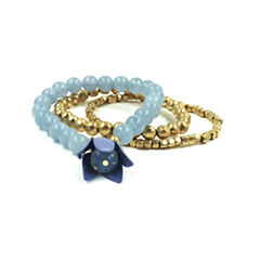 Mixit Womens Blue Stretch Bracelet