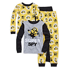 Minion 4 PC Pajama Set - Boys Big Kid
