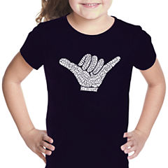 Los Angeles Pop Art Top Worldwide Surfing Spots Short Sleeve Graphic T-Shirt Girls