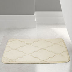 Pacific Coast Textiles Lattice Memory Foam Bath Rug