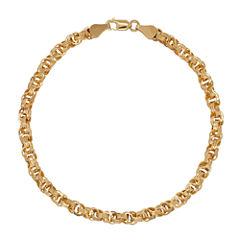 Infinite Gold™ 14K Yellow Gold Hollow Triple Link Bracelet