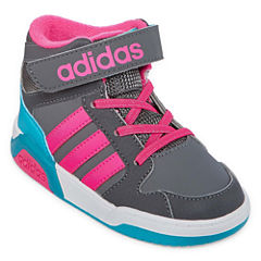 adidas BB9TIS Girls Basketball Shoes - Toddler