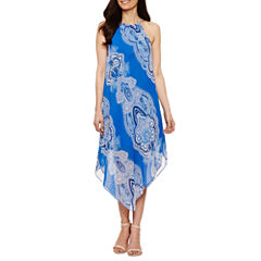 Tiana B Sleeveless Trapeze Dress-Petites