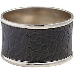 Set of 4 Black Crocodile Napkin Rings