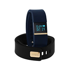 Ifitness Ifitness Activity Tracker Gold/Navy And Black Interchangeable Band Unisex Multicolor Strap Watch-Ift2432bk668-273