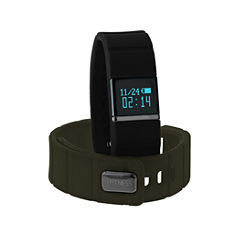 Ifitness Ifitness Activity Tracker Black/Black And Green Interchangeable Band Unisex Multicolor Strap Watch-Ift5415bk668-733