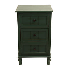 Decor Therapy 3-Drawer Storage End Table