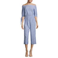 Kelly Renee 3/4 Sleeve Off The ShoulderJumpsuit
