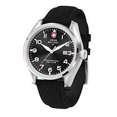Swiss Military By Charmex Pilot Mens Black Strap Watch-78333_11_A