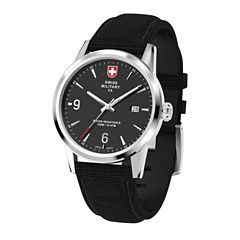 Swiss Military By Charmex Officer Mens Black Strap Watch-78346_4_A