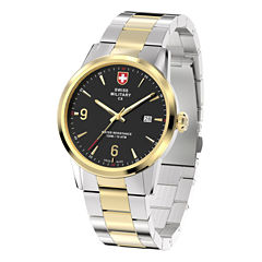 Swiss Military By Charmex Officer Mens Two Tone Bracelet Watch-78346_4_F