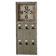 Paris Wall Clock with Message Board