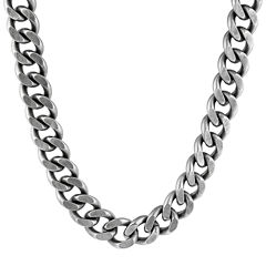 Mens Stainless Steel Curb Chain Necklace