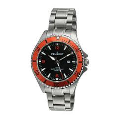 Peugeot Mens Silver Tone Bracelet Watch-1031or
