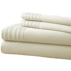 1000 Thread Count Cotton Blend Pleated Hem 4-pc. Sheet Set