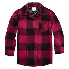 Arizona Long Sleeve Button-Front Shirt Girls