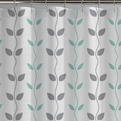 Pacific Coast Textiles Waterproof Organic Vines Printed Shower Curtain Set