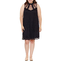 Speechless Sleeveless Embellished Sundress-Juniors Plus