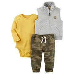 Carter's 3-pc. Camouflage Pant Set Baby Boys
