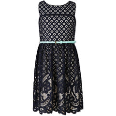 Speechless Burnout Lace Dress - Girls' 7-16