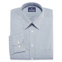 Stafford Travel Performance Super Shirt Long Sleeve Woven Grid Dress Shirt