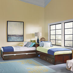 Possibilities L-Shaped Bed with Storage and Trundle