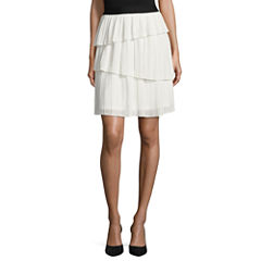 Worthington Woven Pleated Skirt
