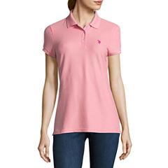 Us Polo Assn. Quick Dry Short Sleeve Knit Polo Shirt